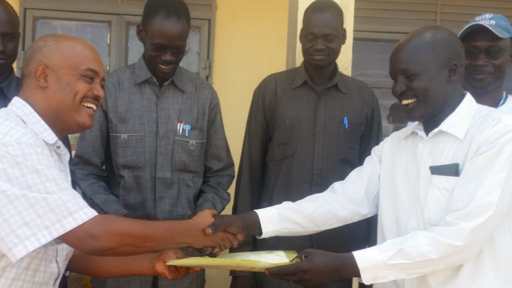 Africa Humanitarian Action Handed over UNHCR Equipment to Relief Rehabilitation Commission